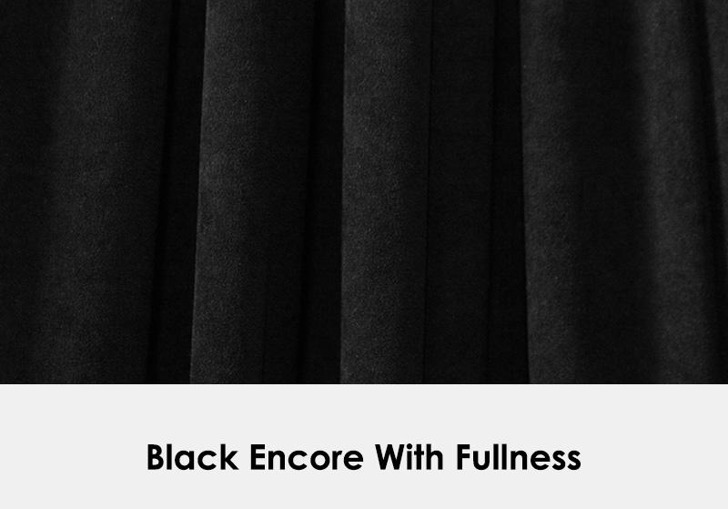 Encore Black Drape with Fullness