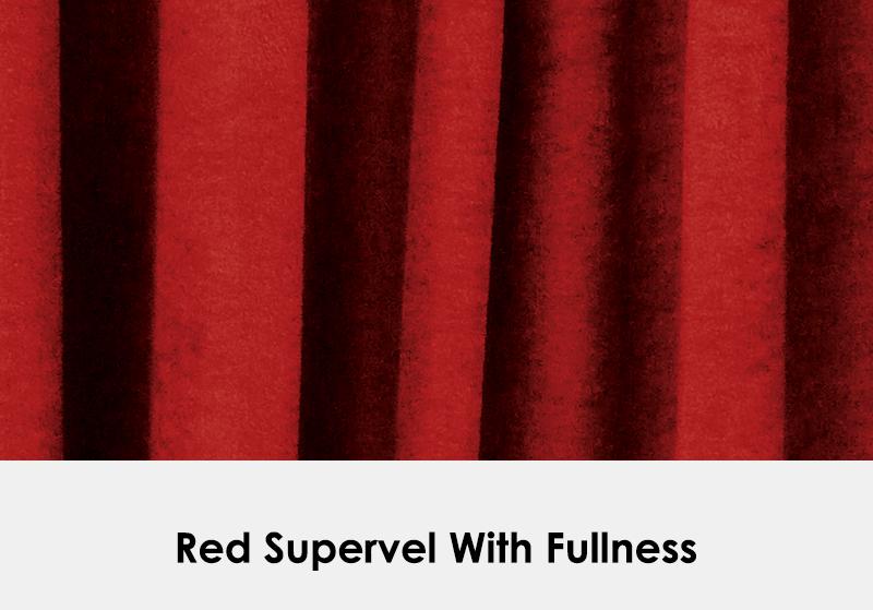 Red Supervel with Fullness