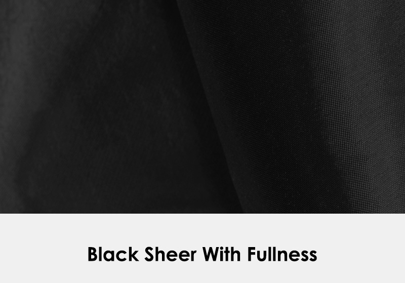 Black Sheer with Fullness