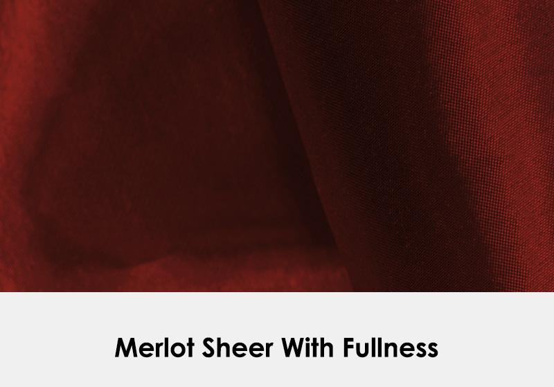 Merlot Sheer with Fullness