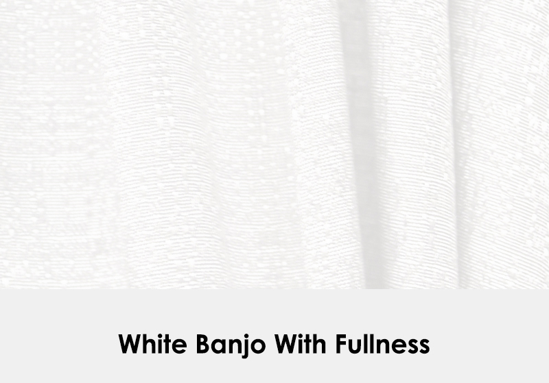 White Banjo with Fullness