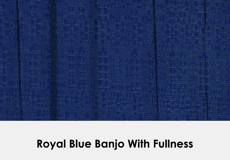Royal Blue Banjo with Fullness