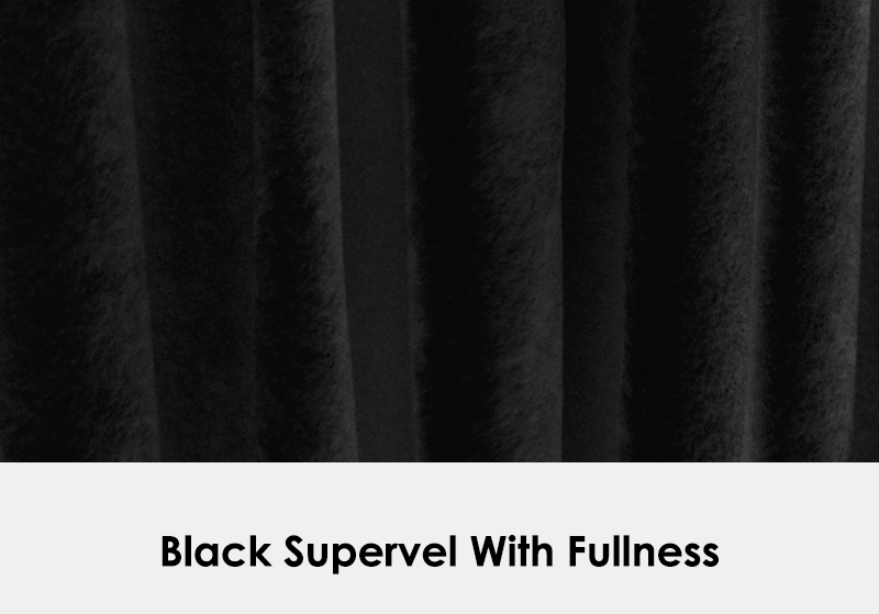 Black Supervel with Fullness