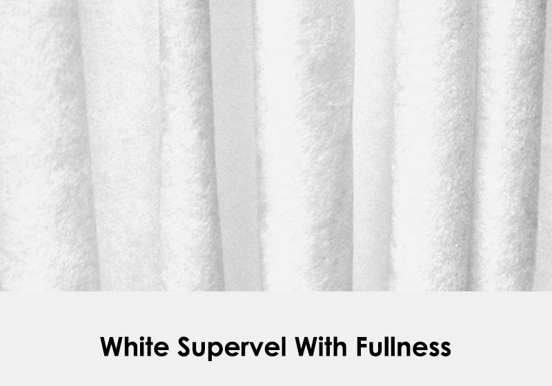 White Supervel with Fullness