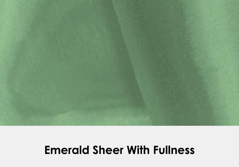 Sheer Emerald with Fullness