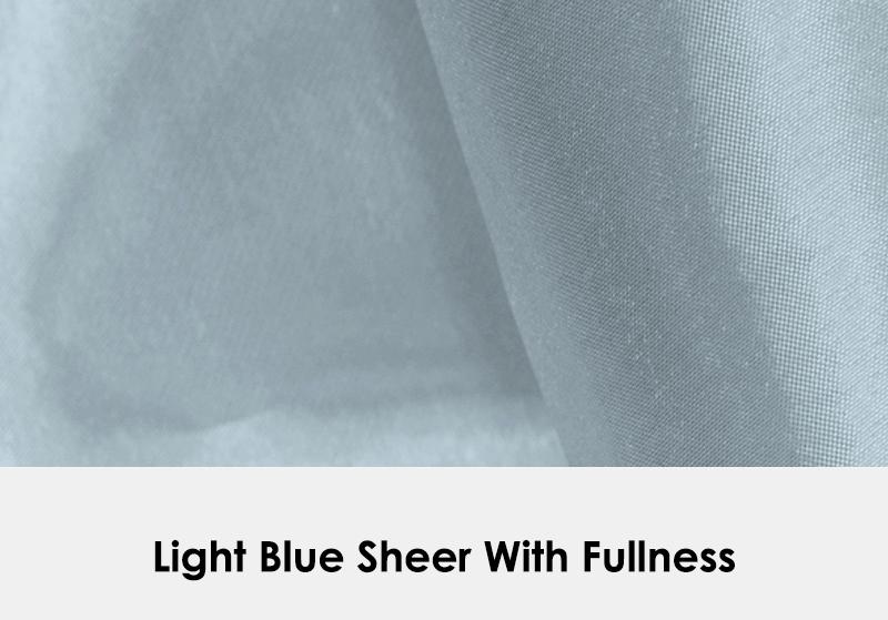 Sheer Light Blue with Fullness