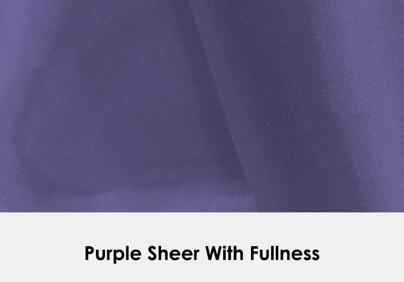 Sheer Purple with Fullness