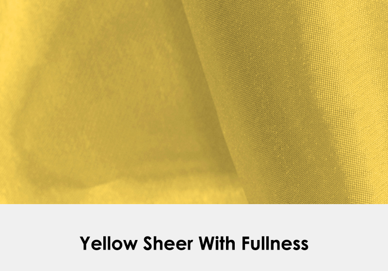 Sheer Yellow with Fullness