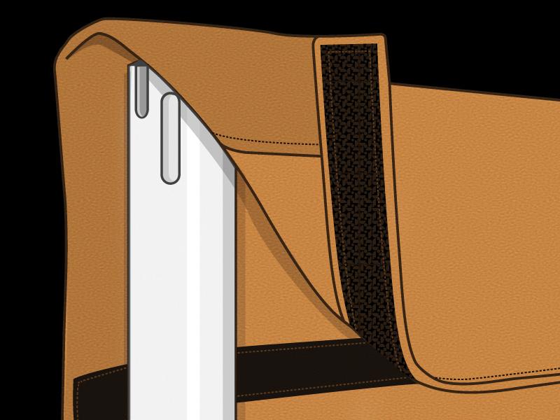 Velcro drape example