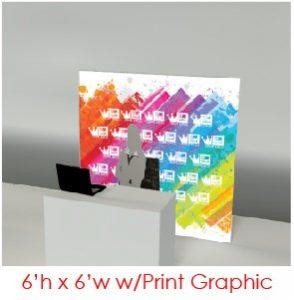 6x6 AV-Drop Modular Printed Virtual Event Backdrops