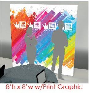 8x8 AV-Drop Modular Printed Virtual Event Backdrops