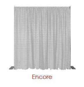 White Encore Drape Virtual Event Backdrops