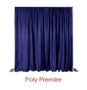 Blue Poly Premier Drape Virtual Event Backdrops