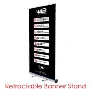 Retractable Printed Banner Virtual Event Backdrops