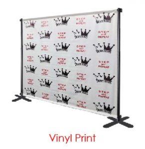 Vinyl Print Logo Virtual Event Backdrops